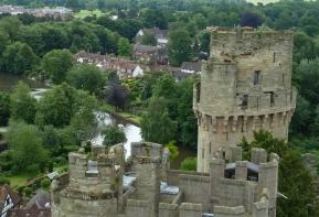 Warwick Castle, vista dalle mura