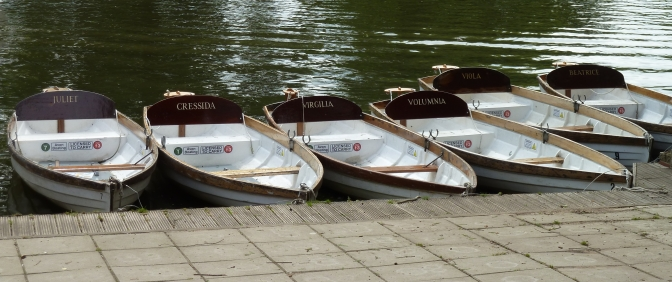 Barche sul fiume Avon