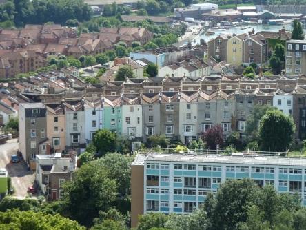 Veduta di Bristol dalla Cabot Tower